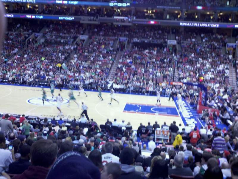 Seating view for Wells Fargo Center Section 102 Row 18 Seat 6