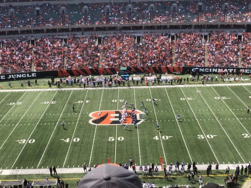 Seating view for Paul Brown Stadium Section 340 Row 6 Seat 6