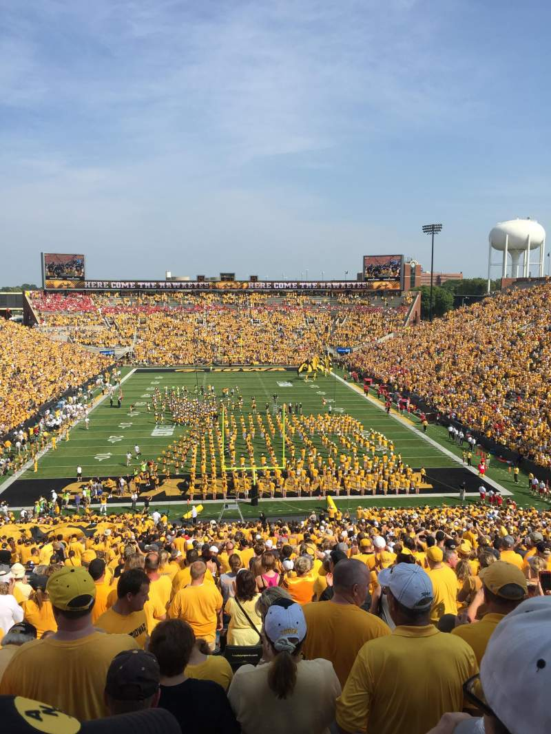 Seating view for Kinnick Stadium Section 216 Row 26 Seat 22