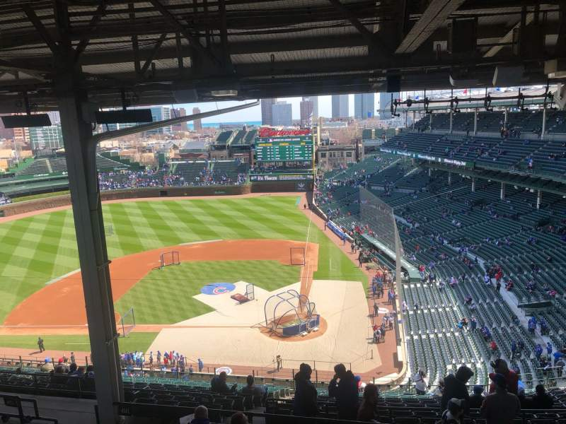 Seating view for Wrigley Field Section 414L Row 8 Seat 10