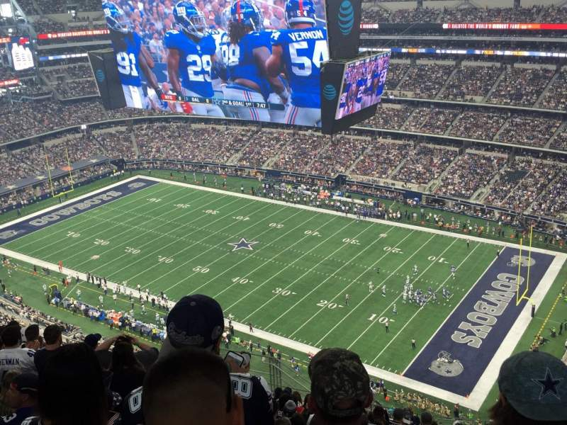 Seating view for AT&T Stadium Section 407 Row 23 Seat 10