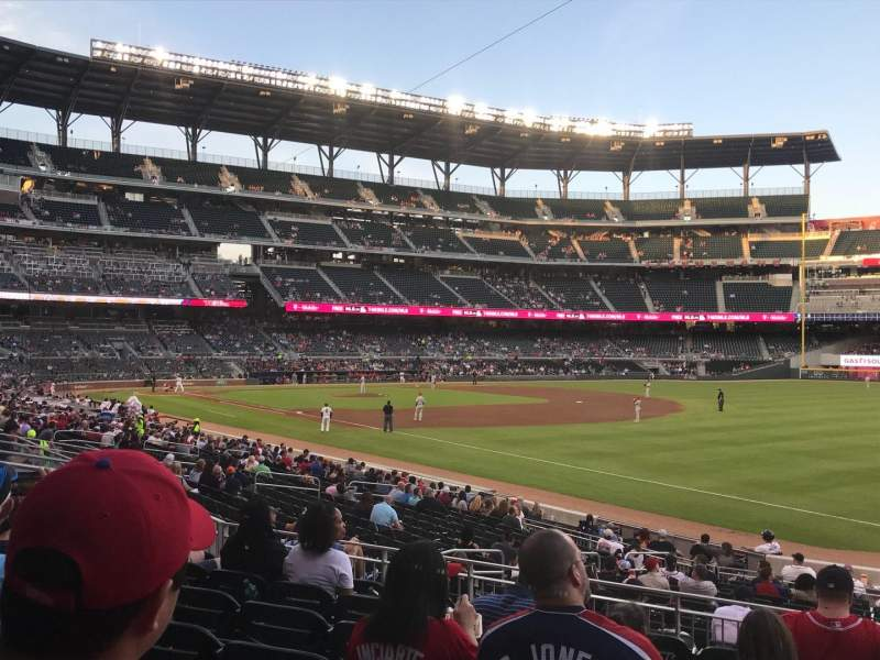 Seating view for SunTrust Park Section 112 Row 7 Seat 1