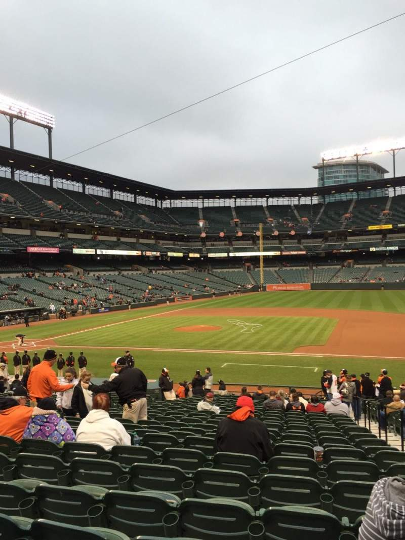 Seating view for Oriole Park at Camden Yards Section 20 Row 25 Seat 2