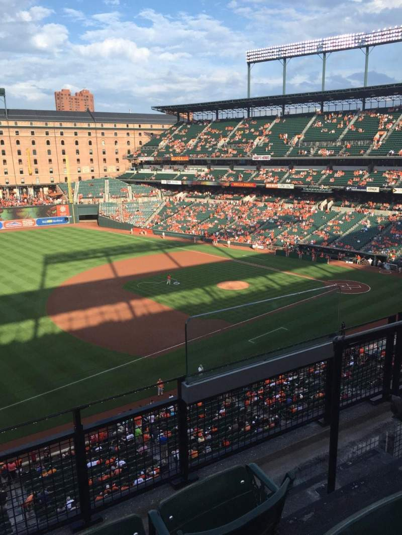 Seating view for Oriole Park at Camden Yards Section 362 Row 3 Seat 2