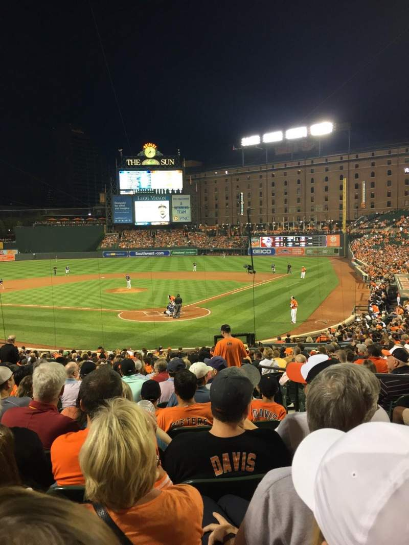 Seating view for Oriole Park at Camden Yards Section 40 Row 28 Seat 3