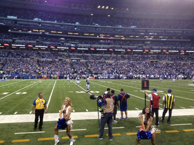 Seating view for Lucas Oil Stadium Section 116 Row 1 Seat 11