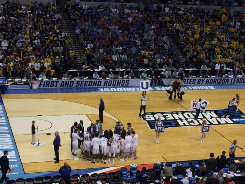 Seating view for Bankers Life Fieldhouse Section 106 Row 7 Seat 2