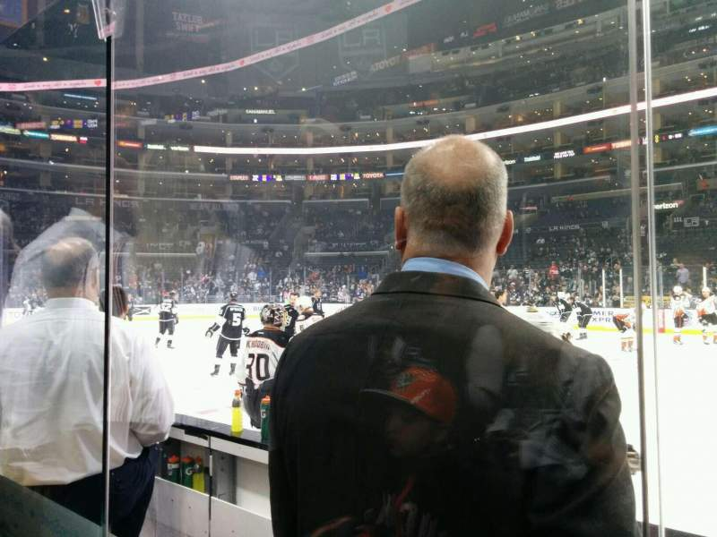 Seating view for Staples Center Section 119 Row 3 Seat 15