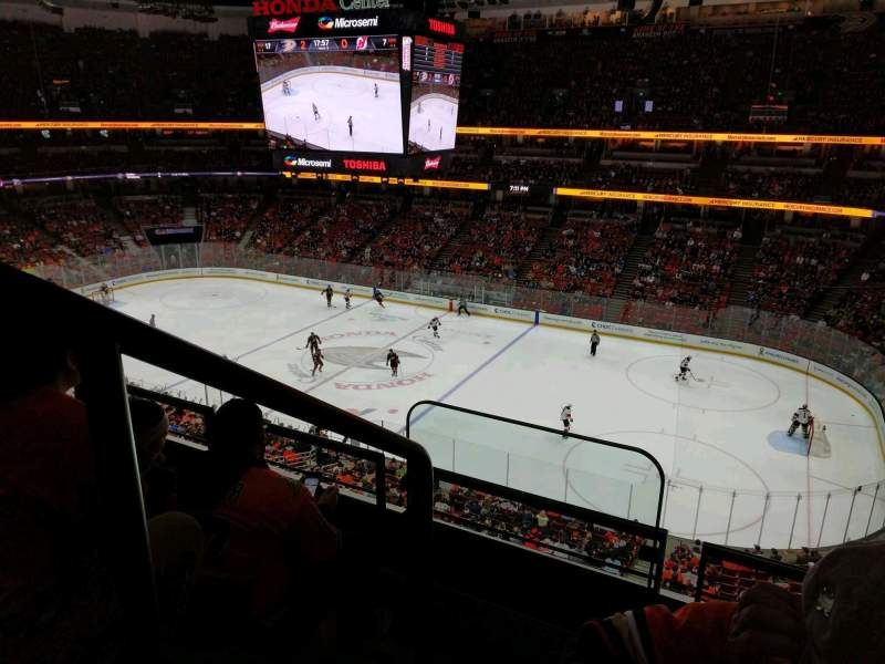Seating view for Honda Center Section 408 Row C Seat 16