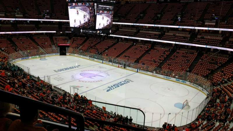Seating view for Honda Center Section 406 Row C Seat 16