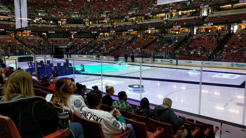 Seating view for Honda Center Section 205 Row H Seat 9