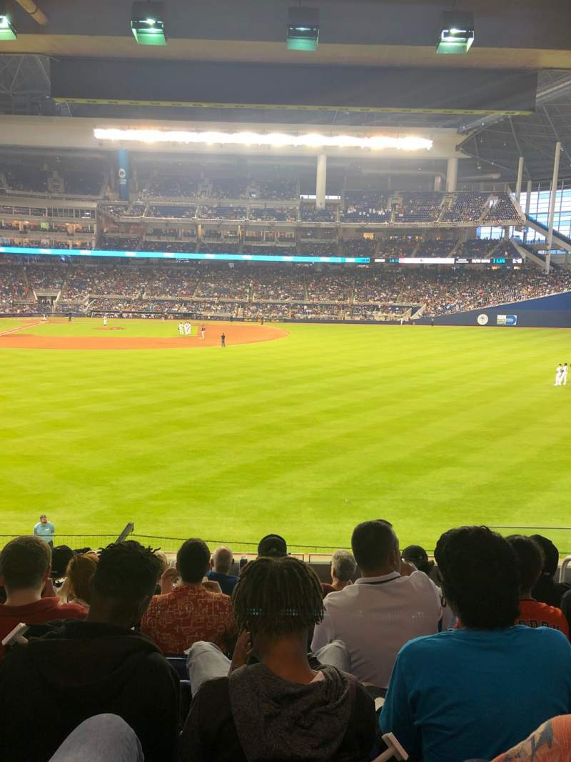 Seating view for Marlins Park Section 39 Row 7 Seat 4