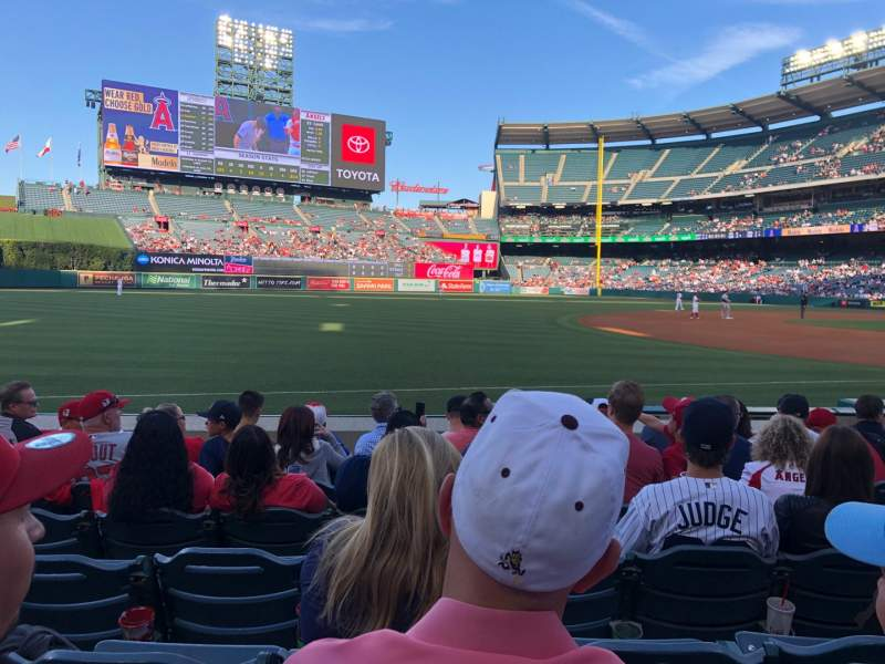 Seating view for Angel Stadium Section F108 Row G Seat 11