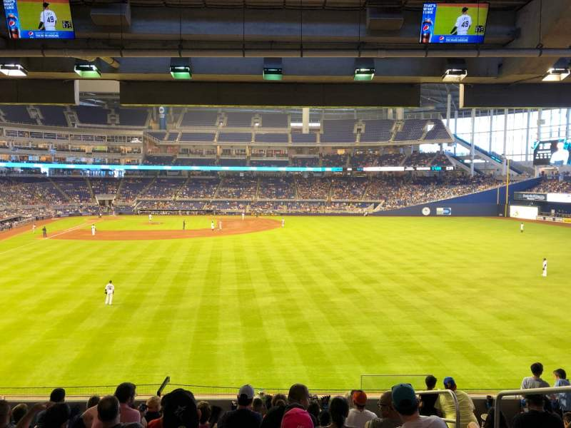 Seating view for Marlins Park Section 39 Row 9 Seat 3
