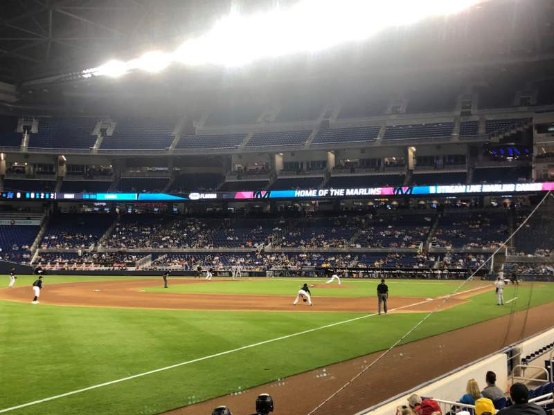 Seating view for Marlins Park Section 26 Row G Seat 2