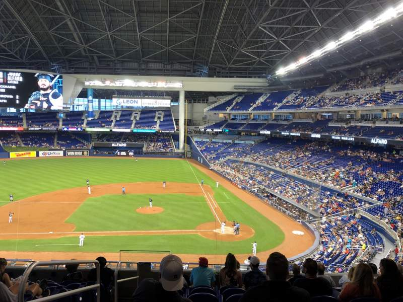 Seating view for Marlins Park Section 219 Row 9 Seat 17