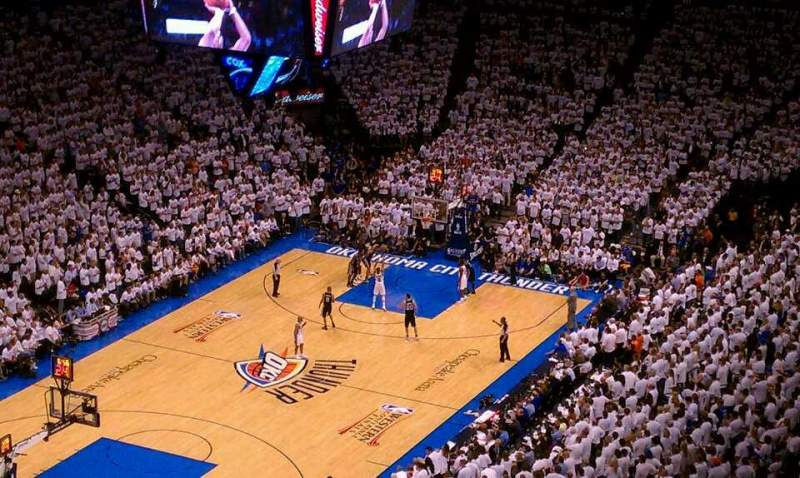 Seating view for Chesapeake Energy Arena Section 328 Row Q