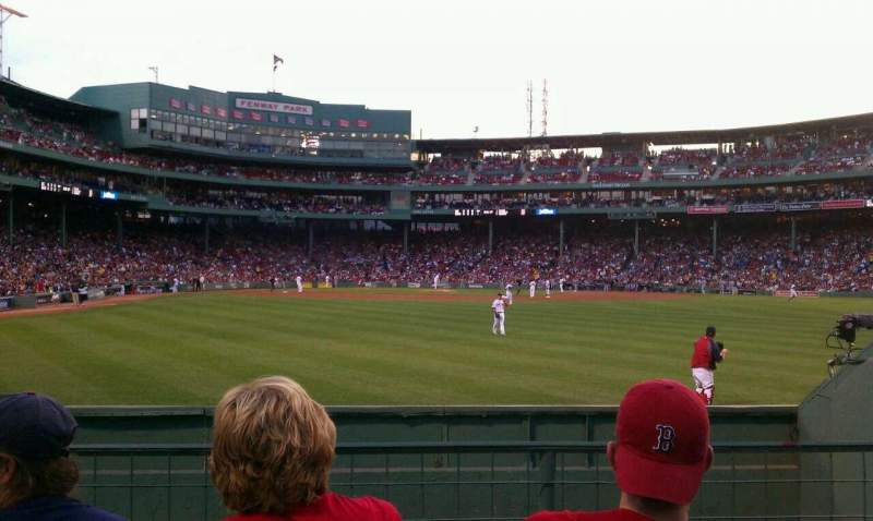 Seating view for Fenway Park Section Bleacher 42 Row 1 Seat 14