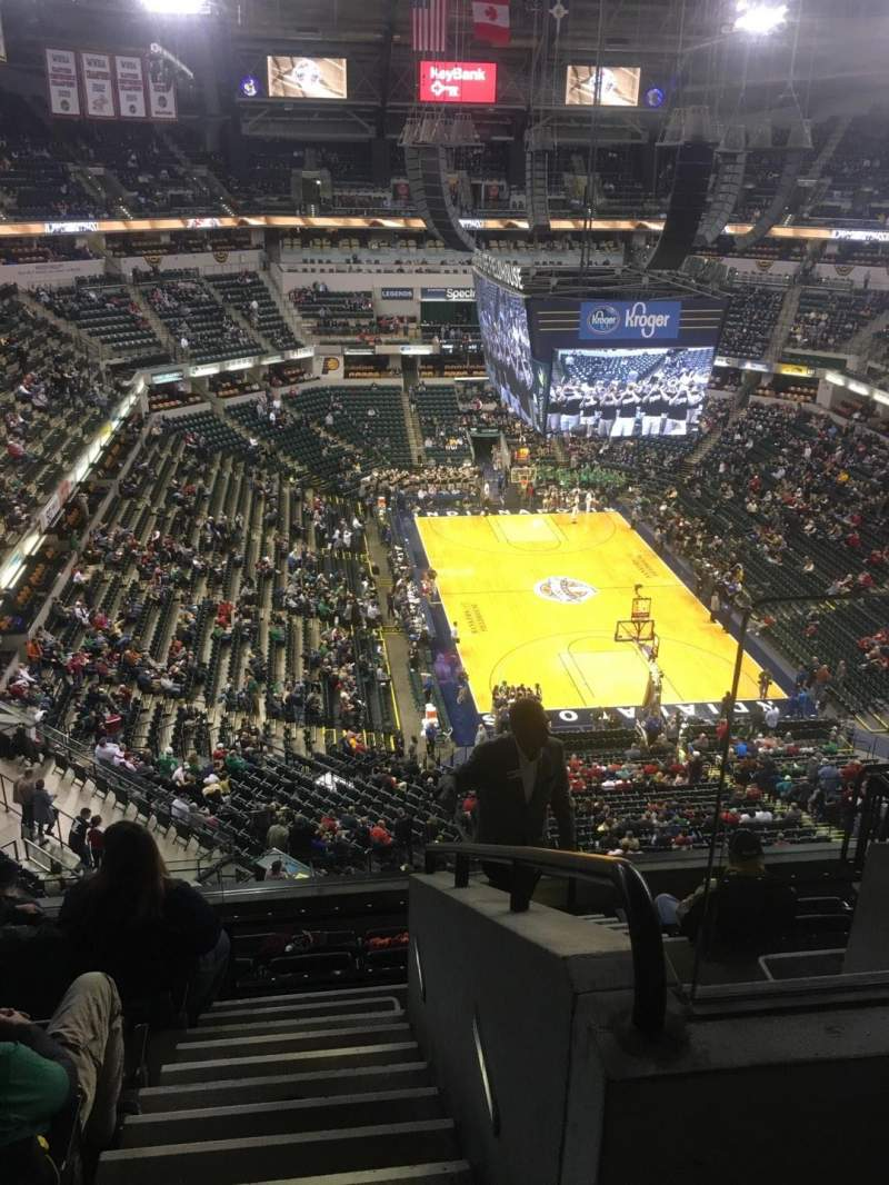 Seating view for Bankers Life Fieldhouse Section 202 Row 8 Seat 2
