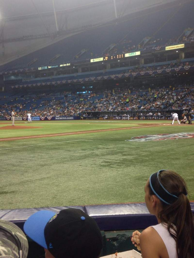 Seating view for Tropicana Field Section 119 Row E Seat 6