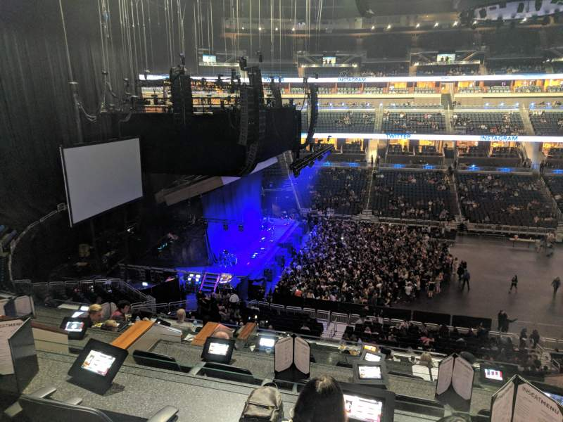 Seating view for Amway Center Section Loge Box I Row 5 Seat 3,4