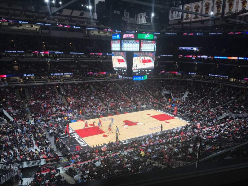 Seating view for United Center Section 303 Row 2 Seat 16