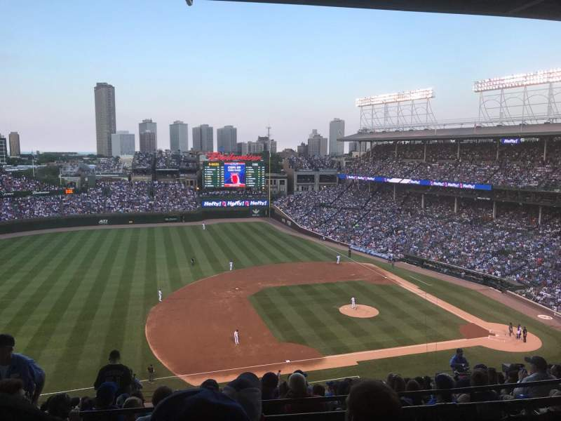 Seating view for Wrigley Field Section 511 Row 3 Seat 4
