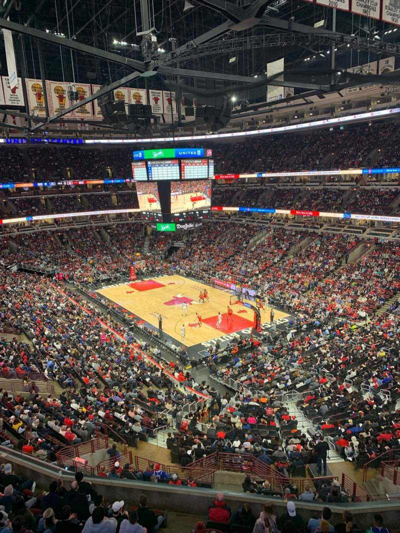 Seating view for United Center Section 312 Row 1 Seat 14
