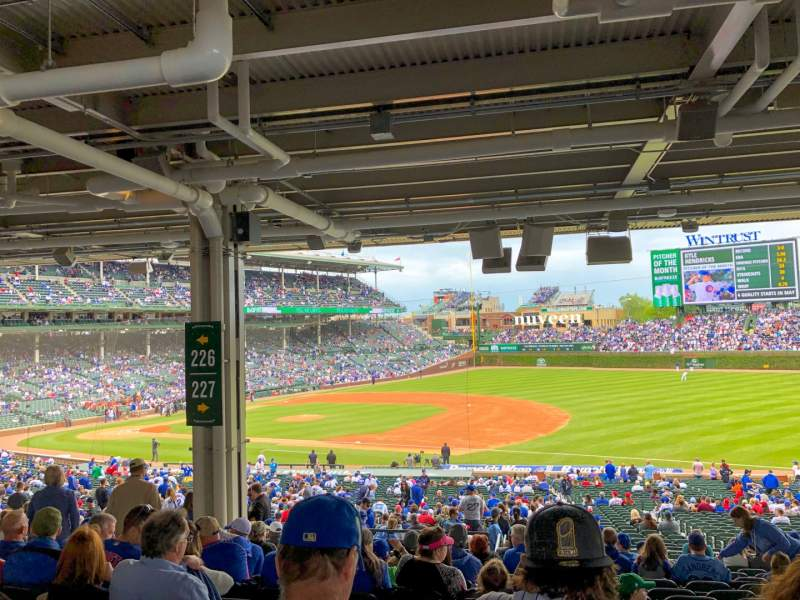 Seating view for Wrigley Field Section 227 Row 16 Seat 10