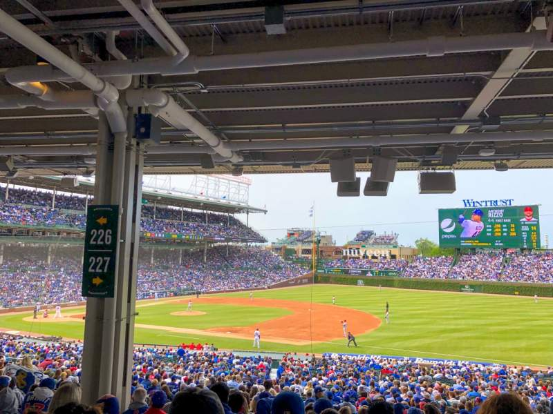 Seating view for Wrigley Field Section 227 Row 14 Seat 9