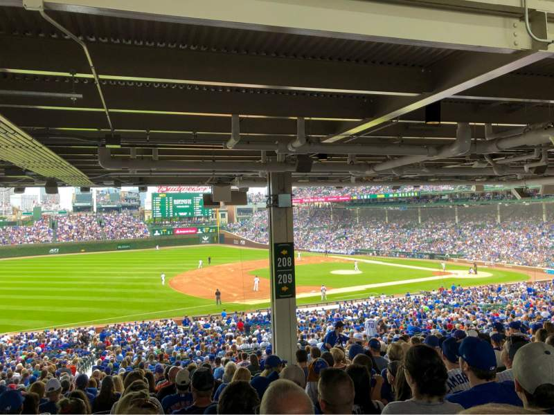 Seating view for Wrigley Field Section 208 Row 19 Seat 15