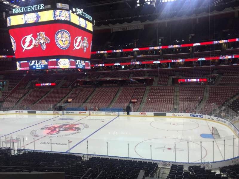 Seating view for BB&T Center Section 115 Row 25 Seat 17