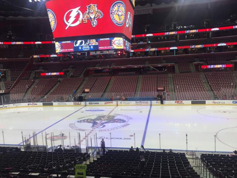 Seating view for BB&T Center Section 117 Row 23 Seat 4
