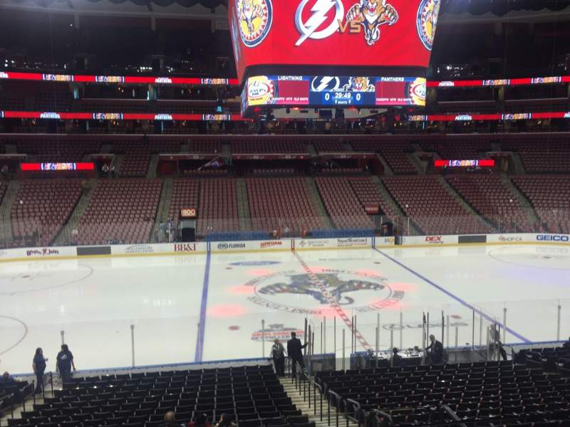 Seating view for BB&T Center Section 119 Row 22 Seat 4