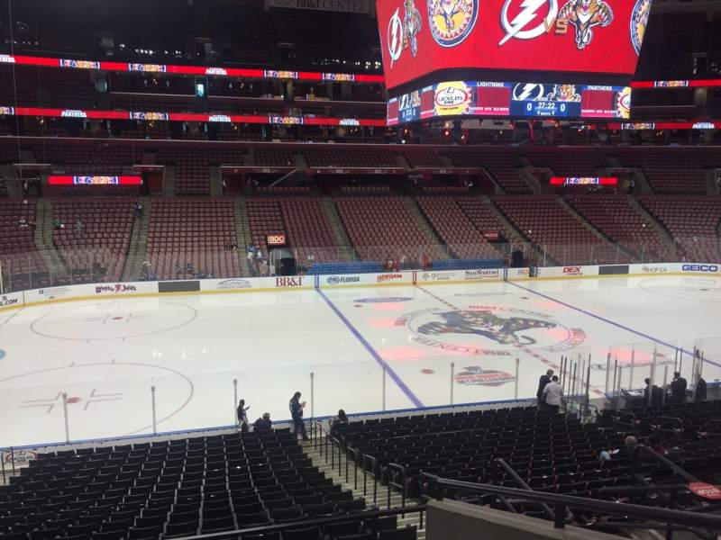 Seating view for BB&T Center Section 120 Row 23 Seat 5