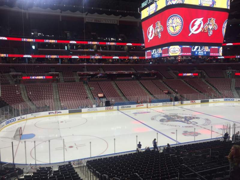 Seating view for BB&T Center Section 121 Row 23 Seat 4