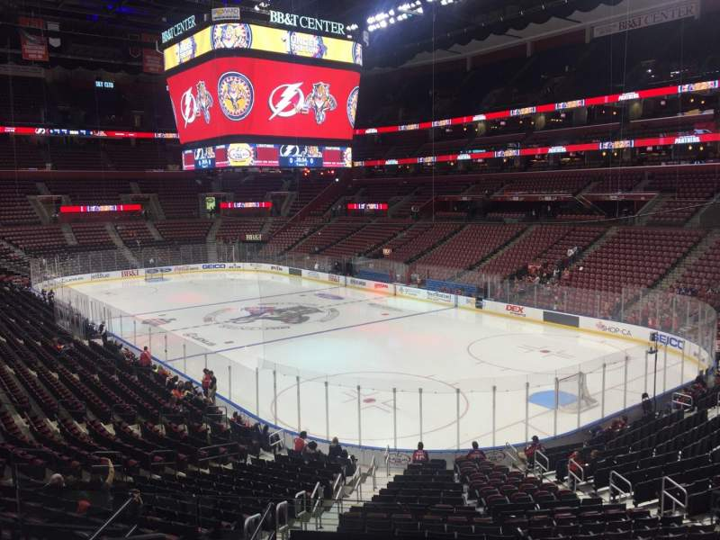 Seating view for BB&T Center Section 112 Row 24 Seat 15