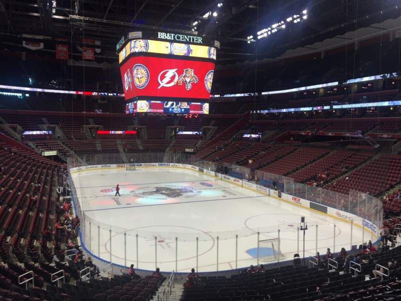 Seating view for BB&T Center Section 111 Row 24 Seat 17