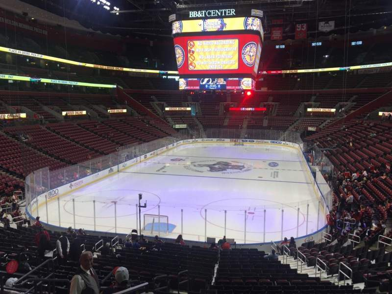 Seating view for BB&T Center Section 108 Row 24 Seat 17