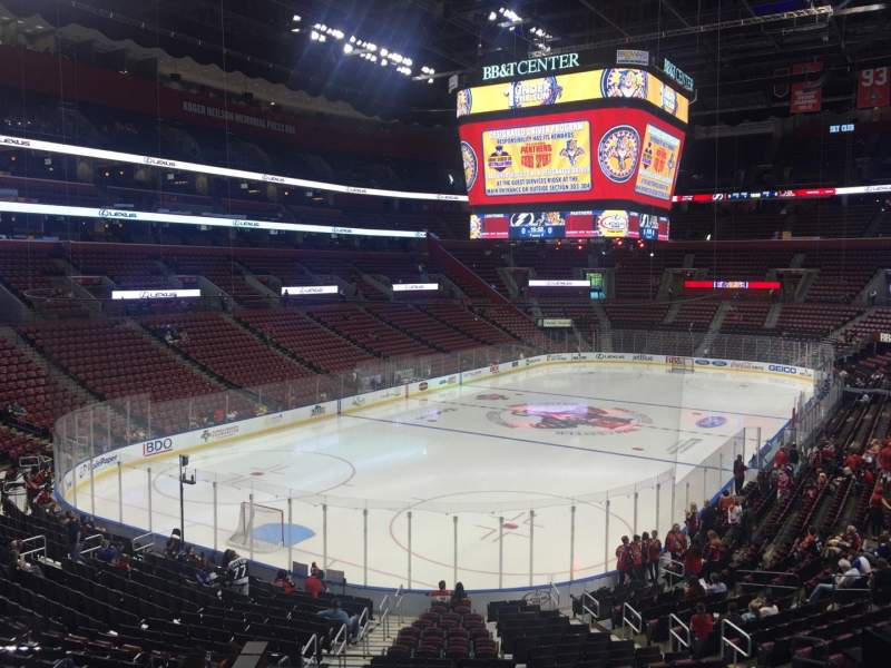 Seating view for BB&T Center Section 107 Row 24 Seat 15