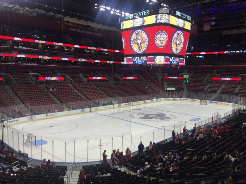 Seating view for BB&T Center Section 105 Row 24 Seat 17