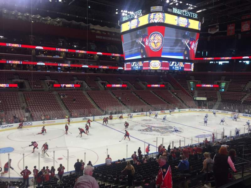 Seating view for BB&T Center Section 104 Row 24 Seat 13