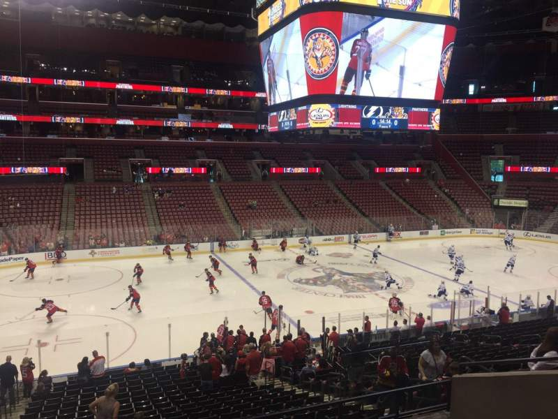 Seating view for BB&T Center Section 103 Row 24 Seat 15