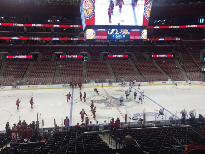 Seating view for BB&T Center Section 102 Row 24 Seat 2