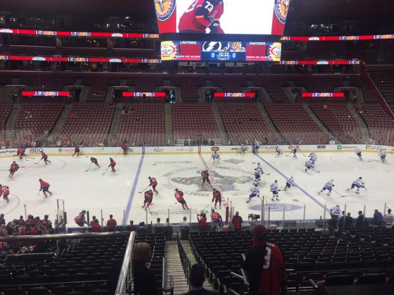 Seating view for BB&T Center Section 101 Row 24 Seat 20