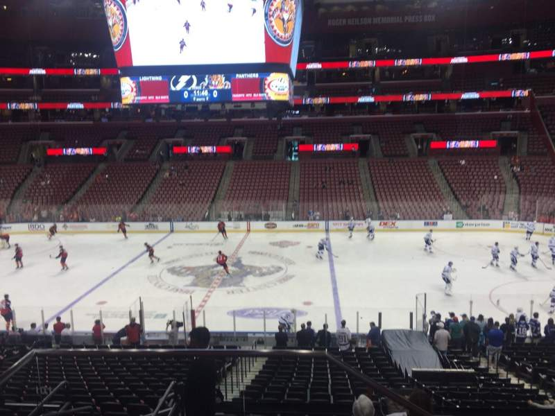 Seating view for BB&T Center Section 134 Row 24 Seat 8