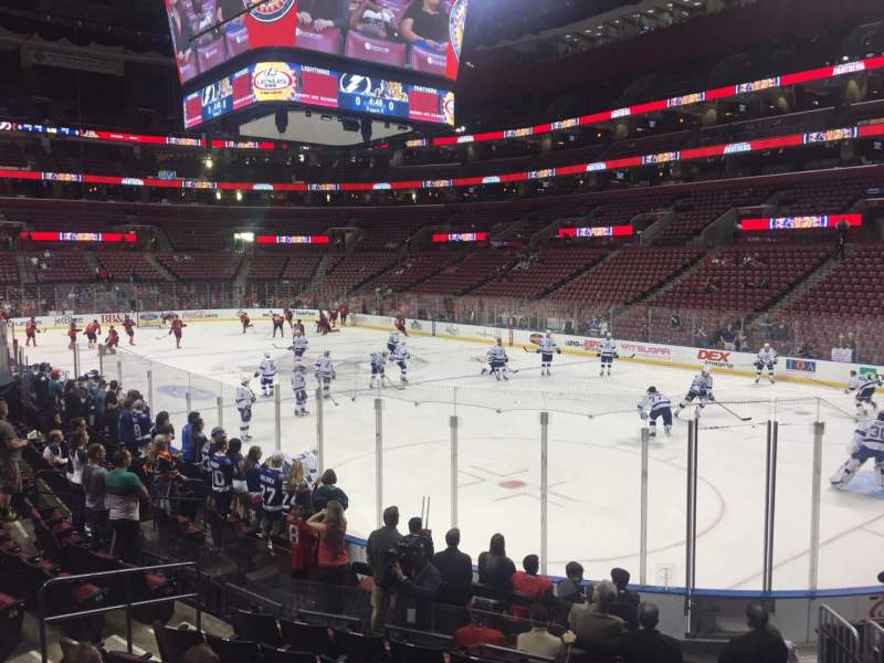 Seating view for BB&T Center Section 130 Row 12 Seat 1