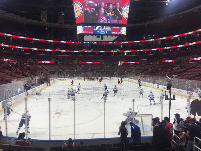 Seating view for BB&T Center Section 127 Row 11 Seat 8
