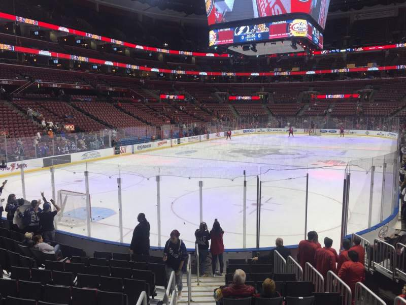 Seating view for BB&T Center Section 124 Row 12 Seat 12