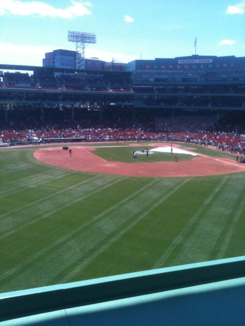 Seating view for Fenway Park Section Green Monster 8 Row 1 Seat 5
